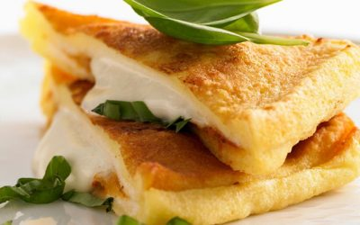 Mozzarella in carrozza of bufala campana dop